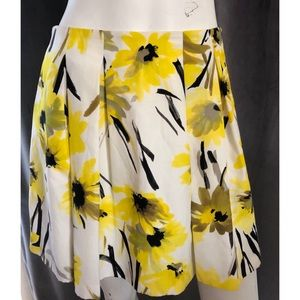 Alice + Olivia Yellow Floral Mini Skirt